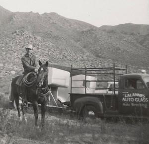 Frank Lalanne horseback